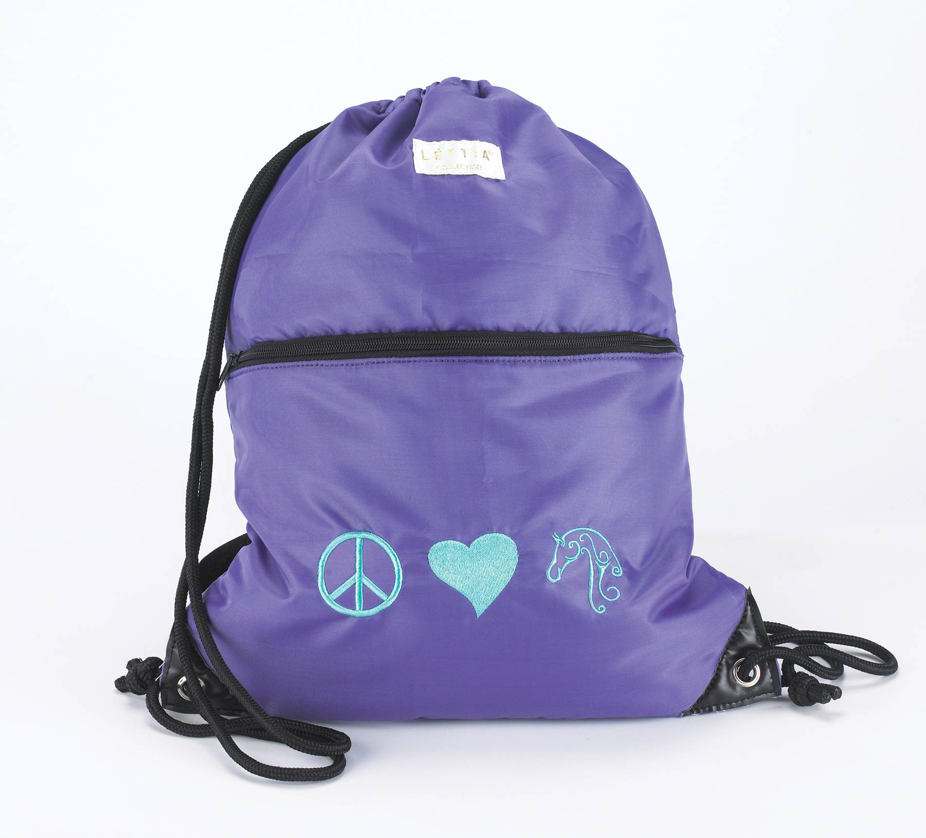 Helmet Back Sack - Peace, Love, Horses Print