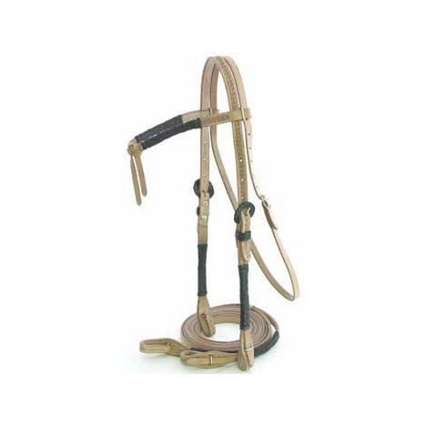 Show Headstall with Rawhide