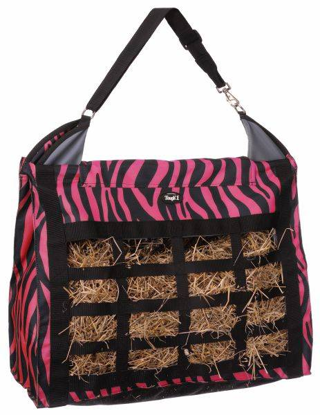 Tough-1 Heavy Denier Nylon Hay Tote with Dividers - Zebra Print