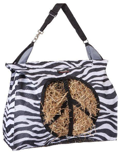 Heavy Denier Nylon Hay Tote with Peace Sign Opening