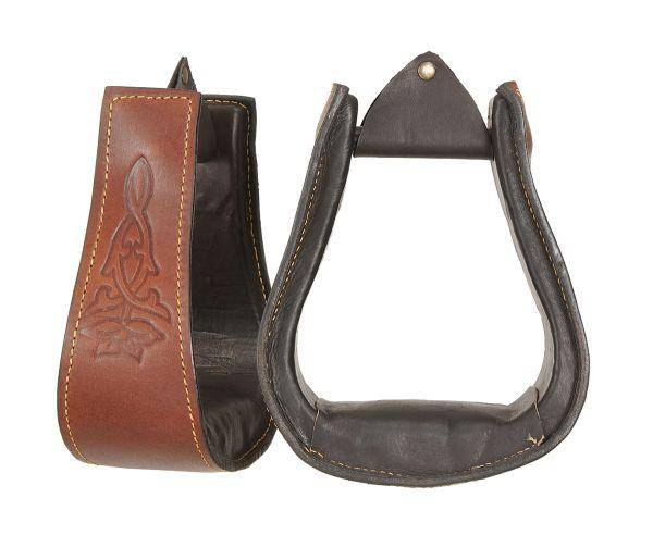 Australian Outrider Collection Leather Covered Stirrups