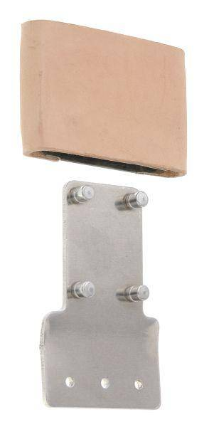 Tough-1 Leather Covered metal Blevins Style Buckle