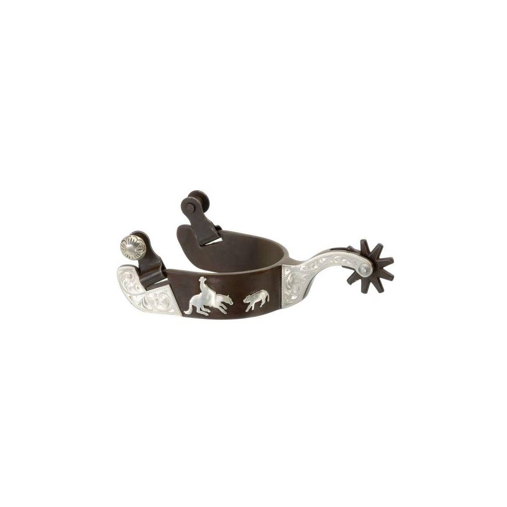 Kelly Silver Star Cutting Horse Spur Overlay