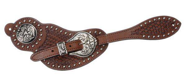 Royal King Basket Spur Strap Steer Concho