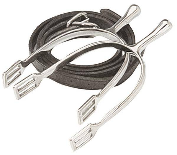 Korsteel Long Neck Dressage Spurs with Straps