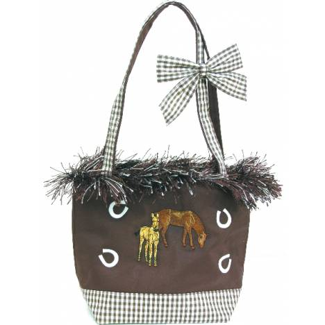 Western Motif Purse with Fringe