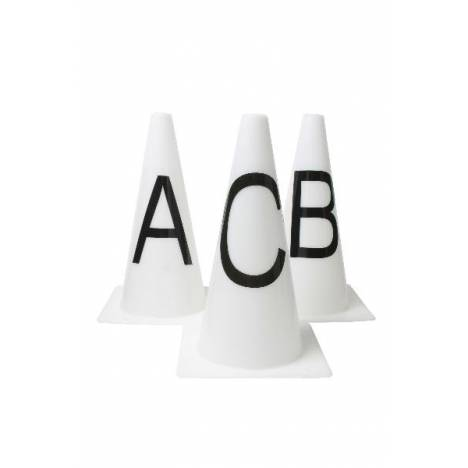 Roma Dressage Cones Set of 8 - White