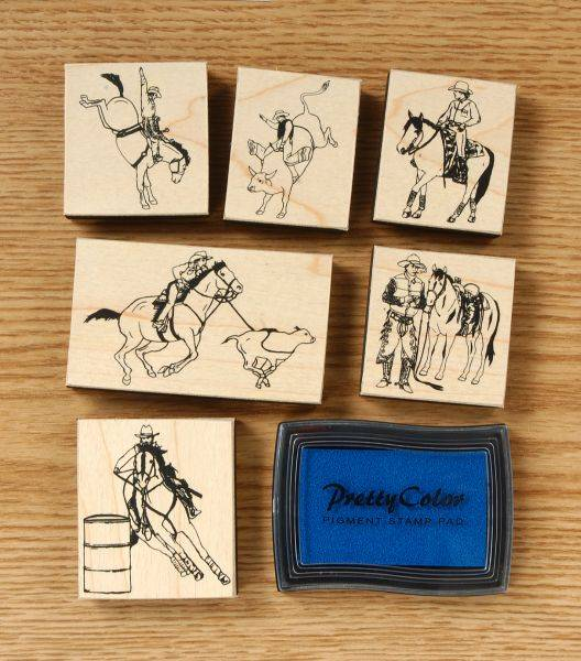Gift Corral Western/Rodeo Stamp Set