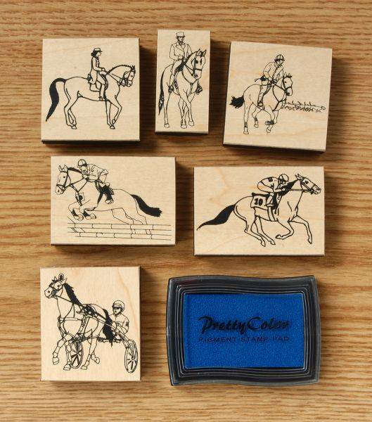 Gift Corral English/Racing Stamp Set