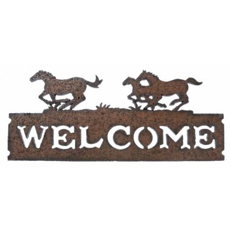 Gift Corral Running Horses Welcome Sign