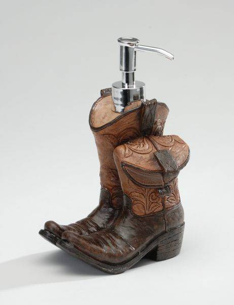 Cowboy Boots Soap Dispenser