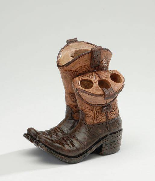 Cowboy Boots Toothbrush and Toothpaste Holder