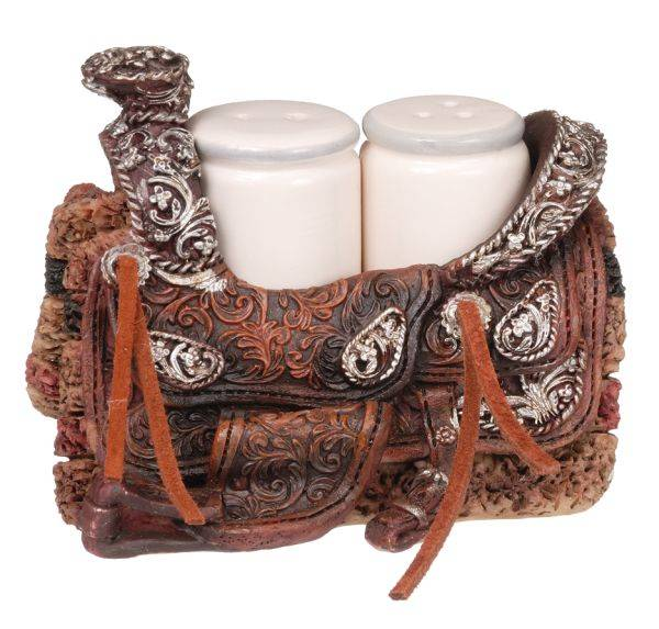Gift Corral Western Saddle Salt & Pepper