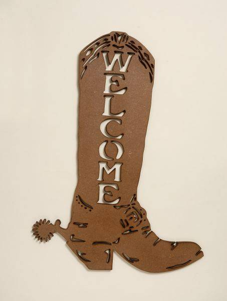 Gift Corral Welcome Cowboy Boot Welcome Sign