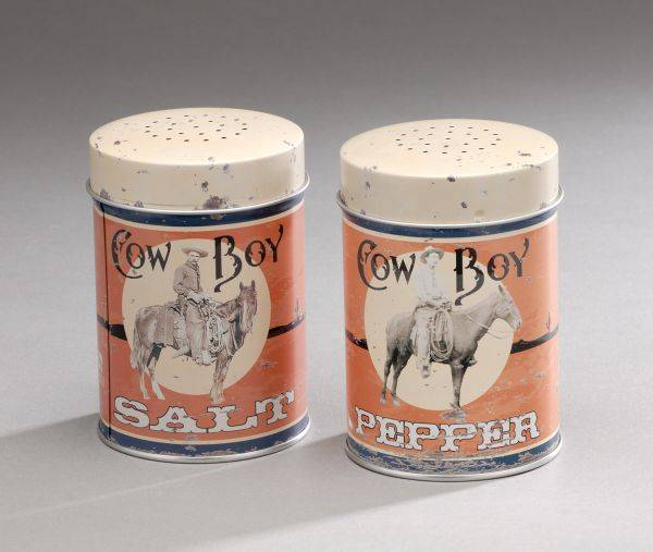 Cowboy Tin Salt & Pepper Set