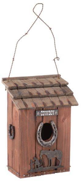 Gift Corral Praying Cowboy Birdhouse