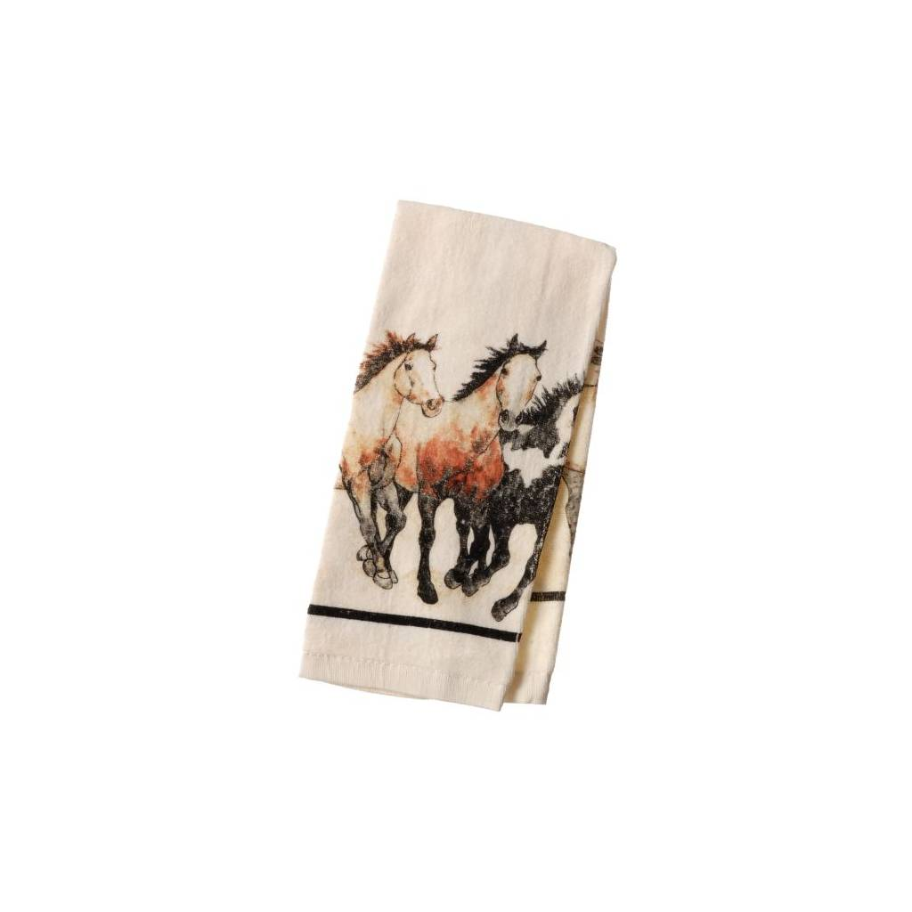 Running Horses Collection Terry Towel