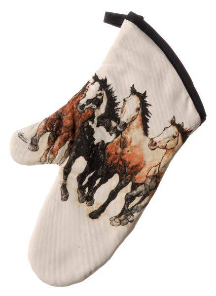 Running Horses Collection Oven Mitt