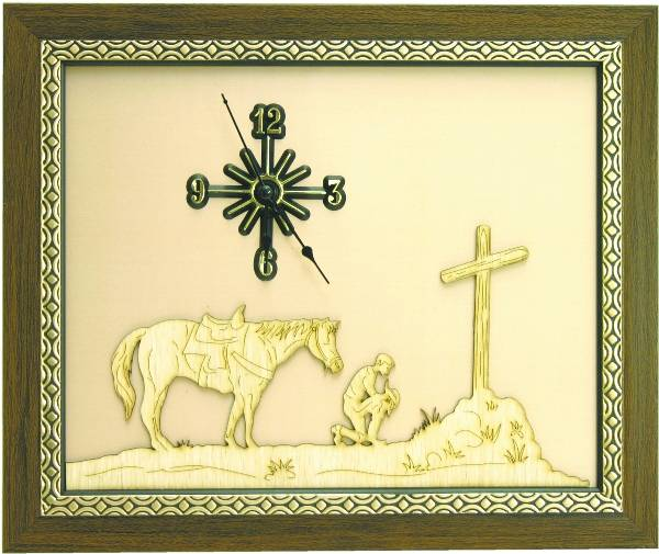 Praying Cowboy Clock
