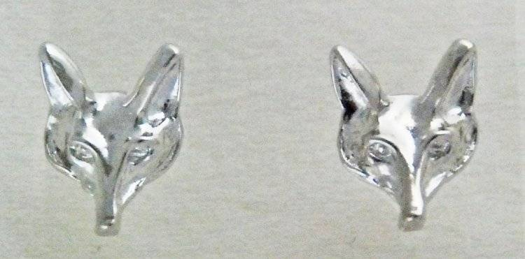 Finishing Touch Finishing Touch Fox Mask Post Earring Imitation Rhodium