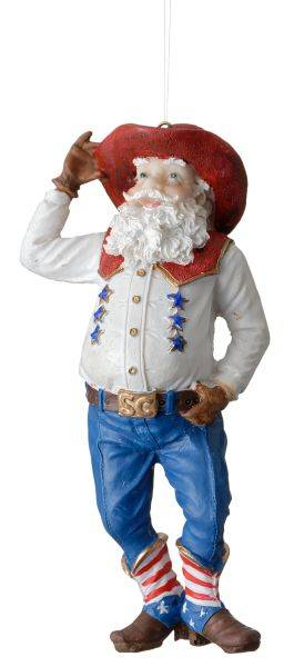 Jolly Dude Santa Ornament