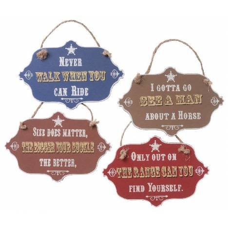 Gift Corral Western Sign Ornaments - Set of 4