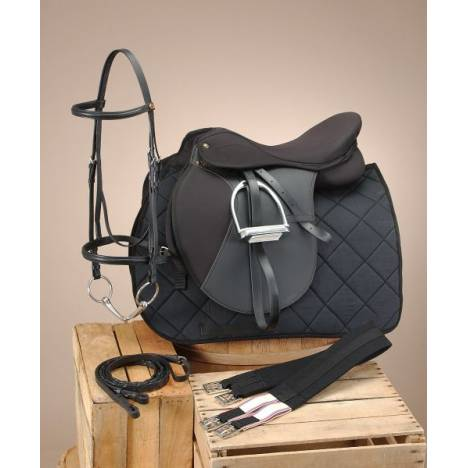 EquiRoyal Pro Am All Purpose Saddle Package Wide Tree