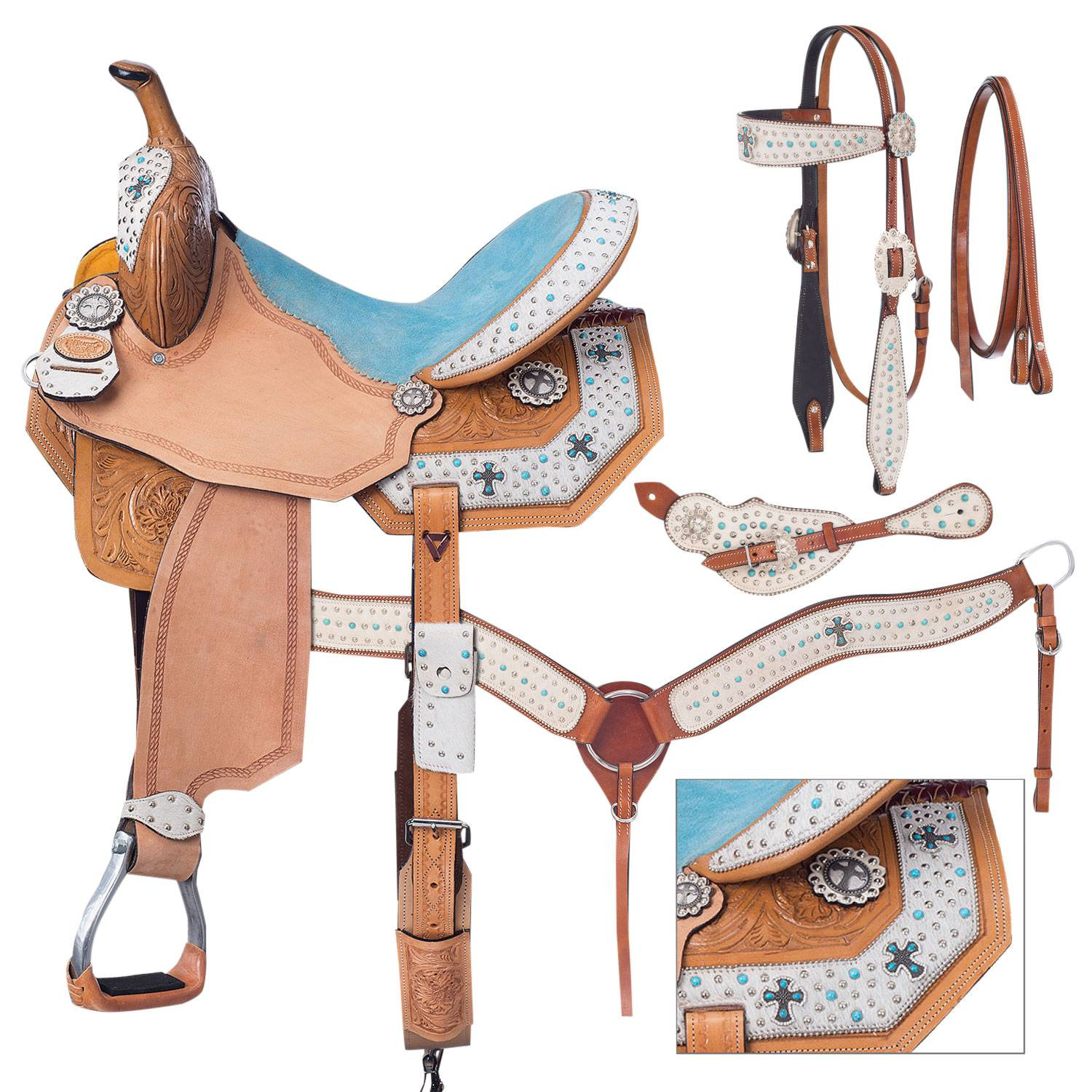 Silver Royal Desert Hope Barrel Saddle Package