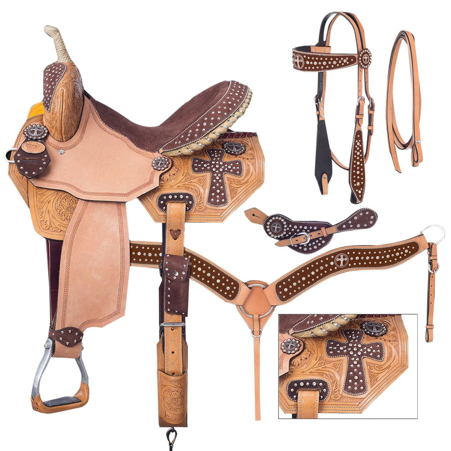 Silver Royal Midnight Run Barrel Saddle Package