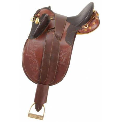 Australian Outrider Collection Stock Poley Saddle with o Horn