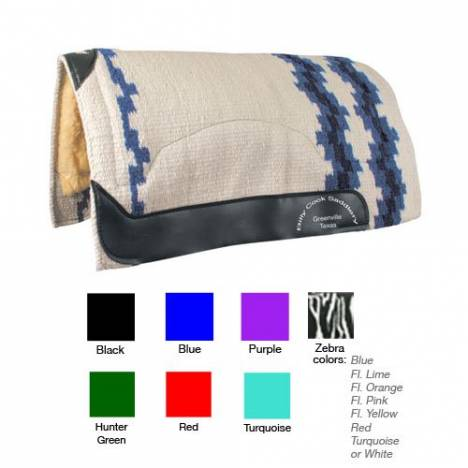Billy Cook Saddlery Wool Top Zebra Show Pad