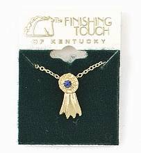 Finishing Touch Blue Ribbon Pendant