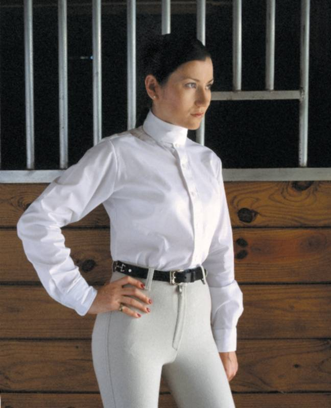 Devonaire Ladies Long Sleeve Nouvelle Stretch Show Shirt
