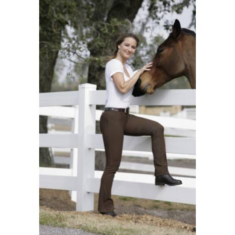 Devonaire Ladies All-Pro Boot-Cut Ribbed Lo-Rise Breech
