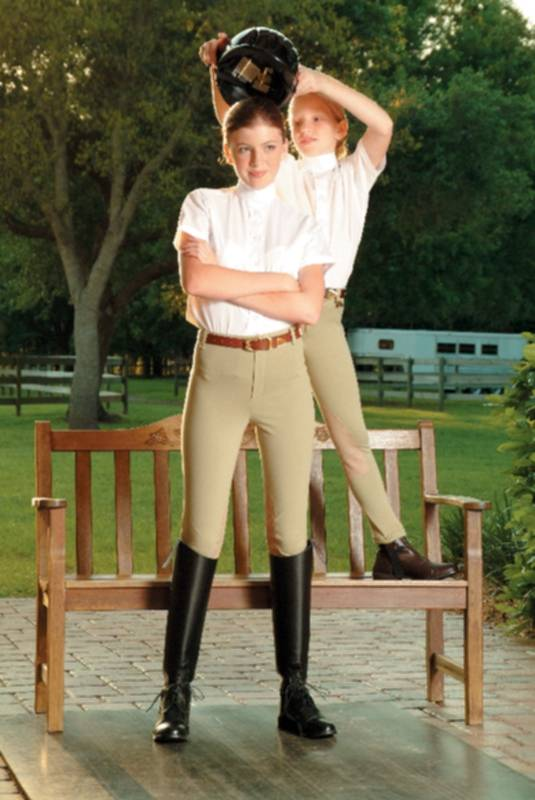 Devonaire Ladies All-Pro Dev-Tek Ribbed Pull On Breech