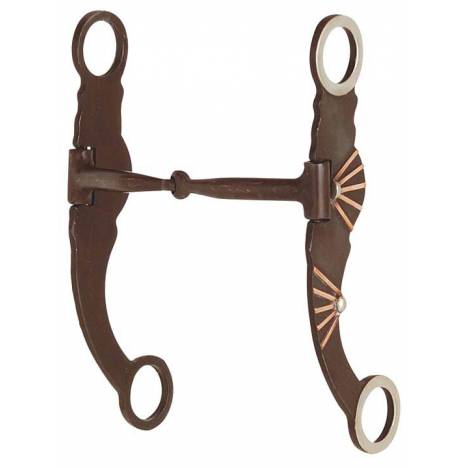 Direct Equine Antique with Copper Bars Snaffle
