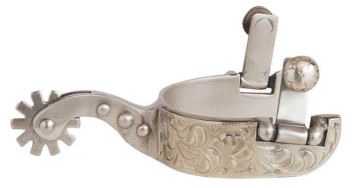 Direct Equine Brushed Stainless Steel Ladies' Spurs