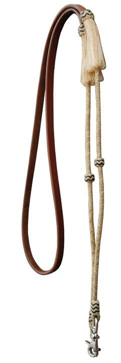 Direct Equine Roping Rein Rawhide Braided