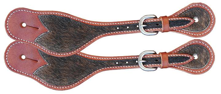 Direct Equine Men's Spur Strap Hair On Hide