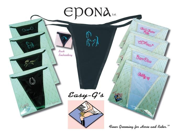 Epona's Easy G's G- String Riding Underwear