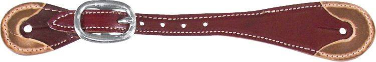 Martin Saddlery Latigo Lthr Spur Strap with Rawhide Ends