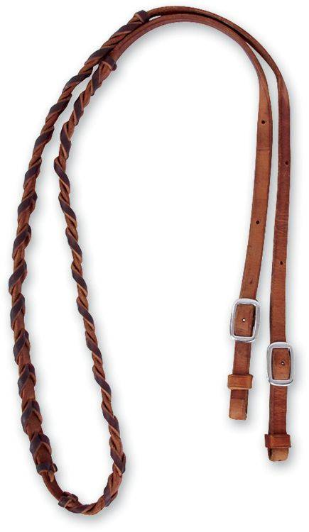 Martin Saddlery Barrel Rein with Latigo Lacing