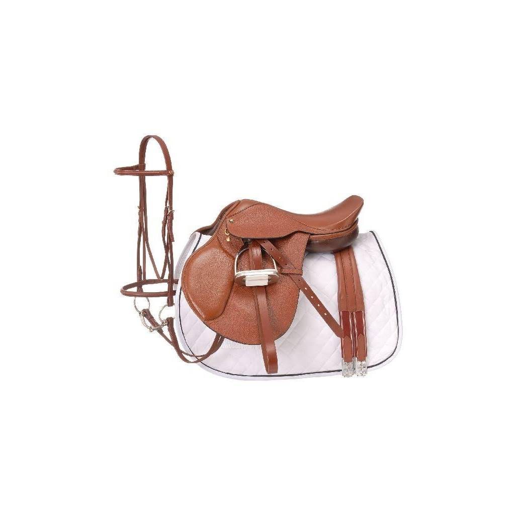 EquiRoyal Regency Close Contact Saddle Package Padded Flap