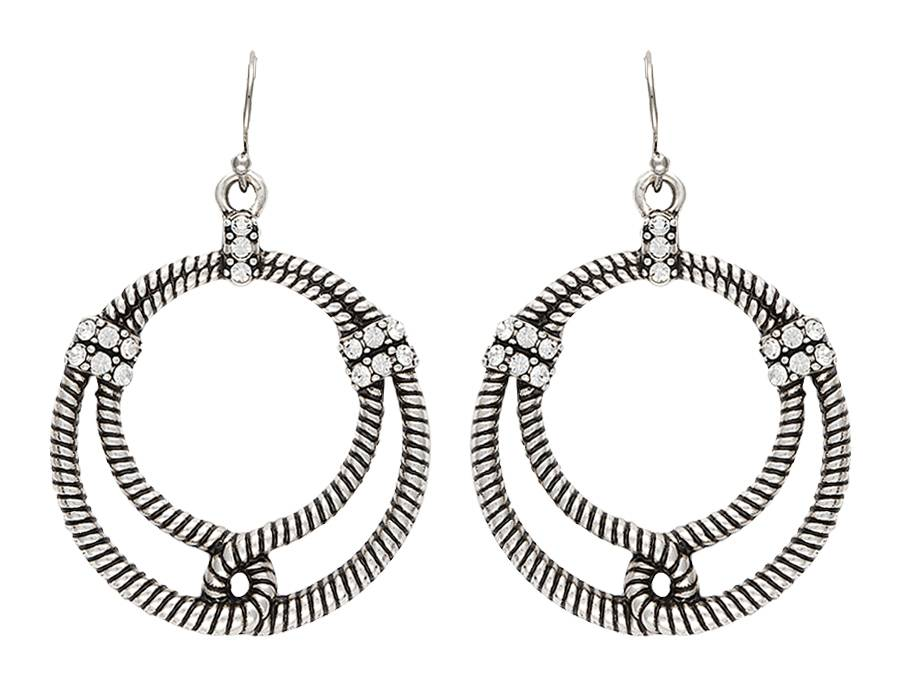 Rock 47 Outlaw Rider Bowline Loop Earrings