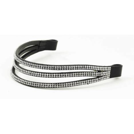 Ovation Elegant Browband - 3 Row Stones