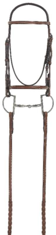 RODRIGO PESSOA Plain Raised Bridle with Laced reins