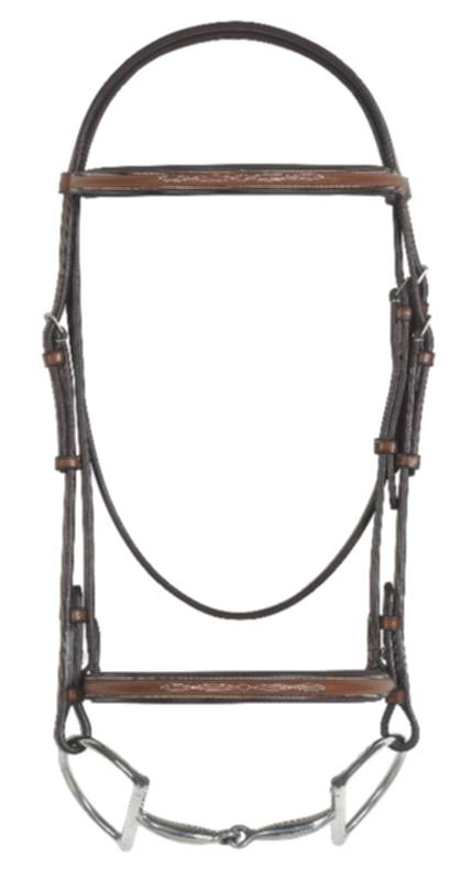 RODRIGO PESSOA Fancy Raised Padded Bridle with o reins