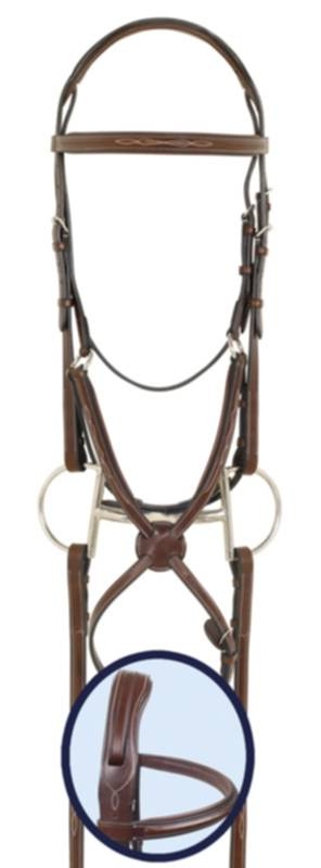 Ovation RCS Jumper Bridle with Rubber Reins