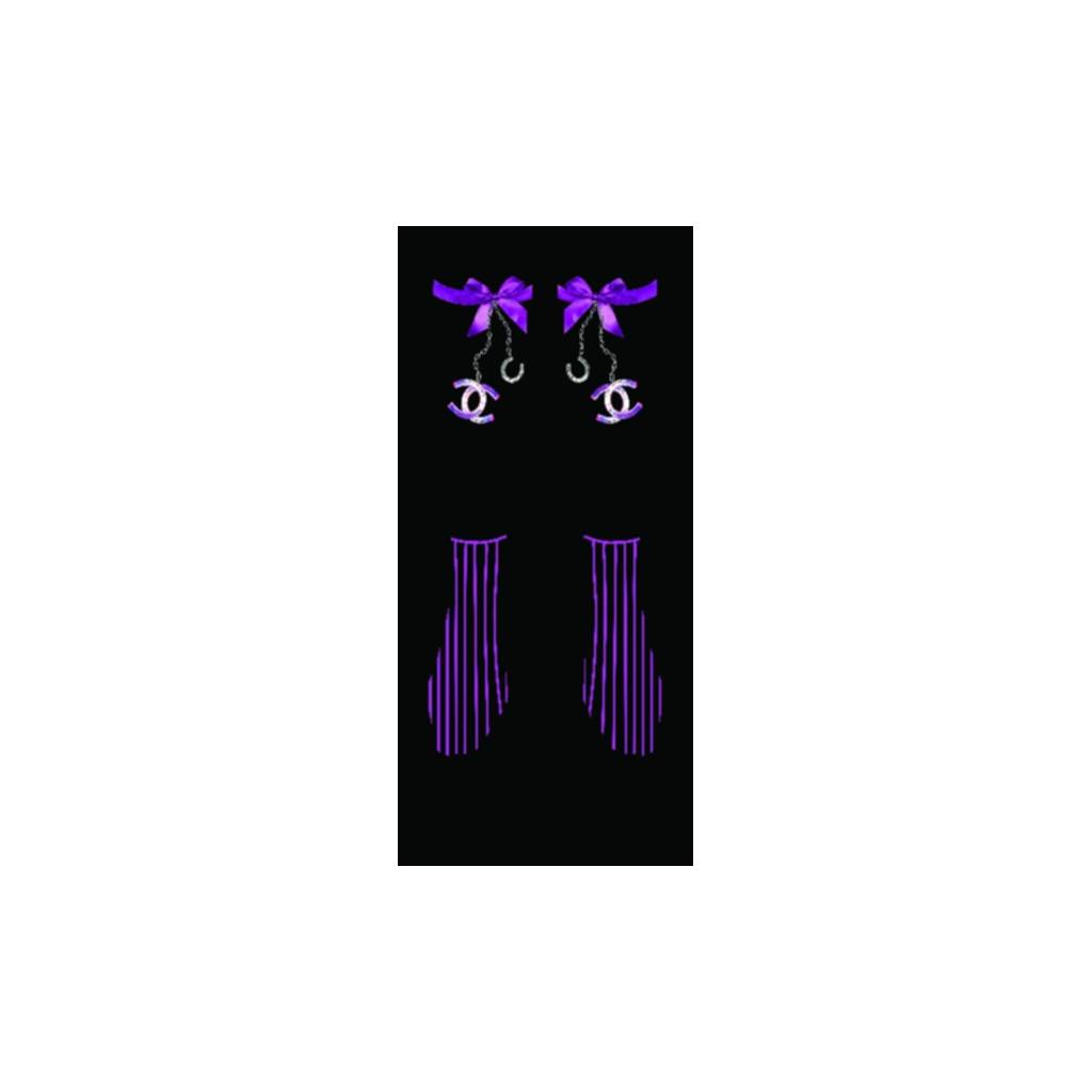 Equestrian Couture Knee-High Boot Socks - Ribbons