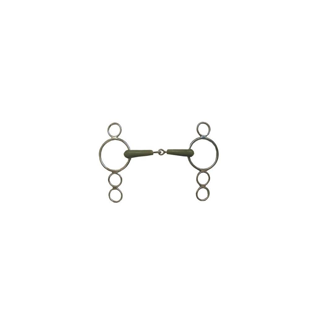 Coronet Flexi 3 Ring Continental Gag Bit